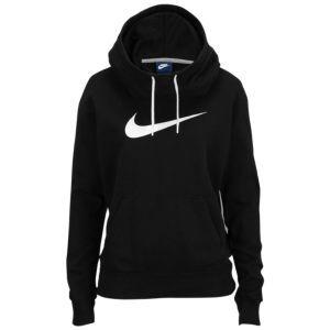 Nike Club Fleece Funnel Hoodie - Women's - Black/White