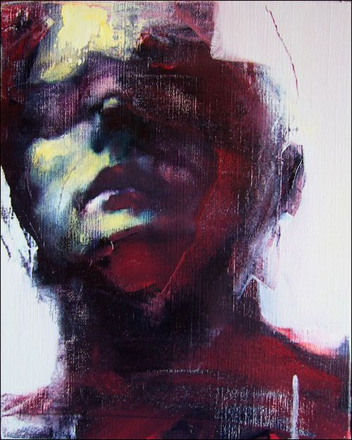 Untitled Man by Paul Ruiz. What I find very inspiring about this piece of work is the use of unconventional and expressionist colours to create an uneasy and dark atmosphere.