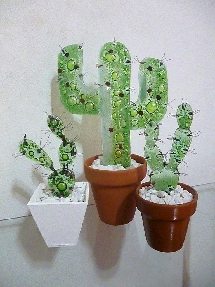 10 souvenirs cactus de vitrofusión
