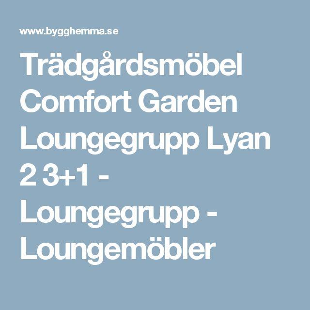 Trädgårdsmöbel Comfort Garden Loungegrupp Lyan 2 3+1 - Loungegrupp - Loungemöbler