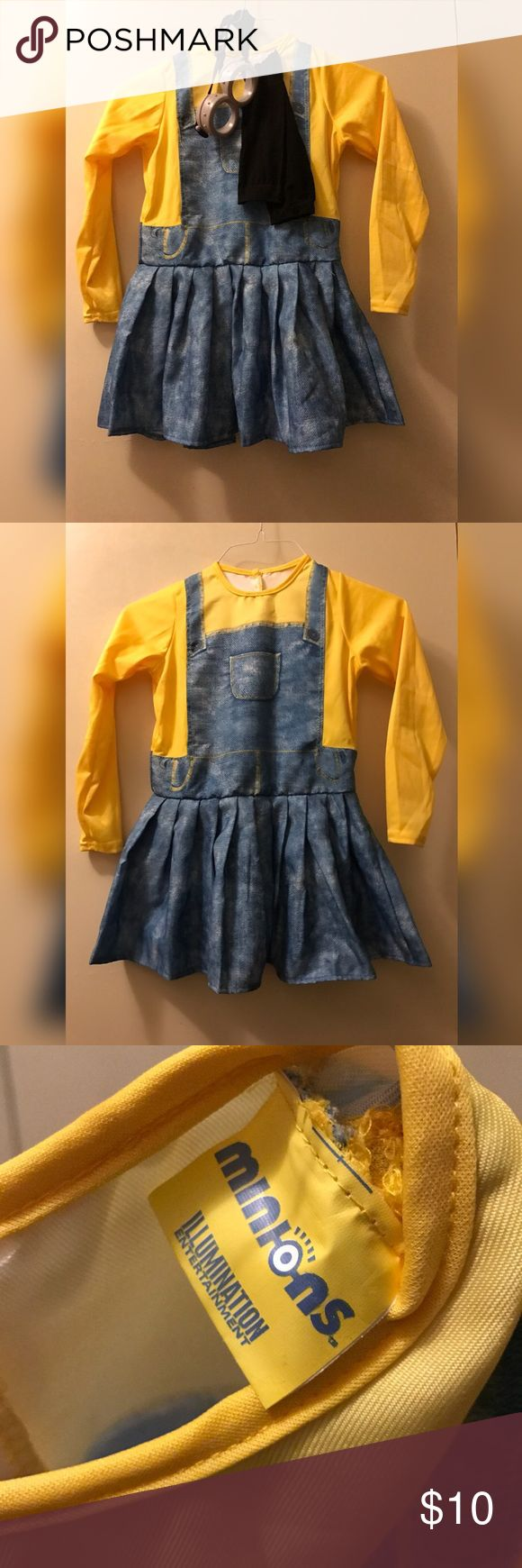 Girl Minions costume Girl minions costume. M/L size. Runs small. Worn one time! Smoke free home. 🚫NO TRADES🚫 Costumes Halloween