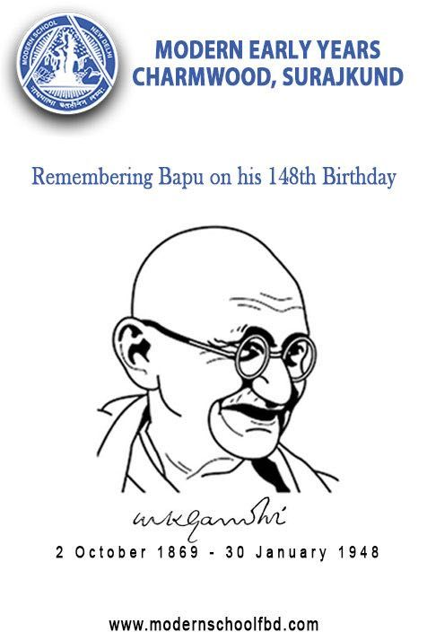 Happy Gandhi Jayanti http://modernschoolfbd.com/charmwood-surajkund-branch/ Wishing & remembering our beloved Bapu on his 148th birthday. We will always remain indebted towards his contribution towards setting the foundation of this Great Nation India. #school #Admission #Themodernschool #faridabad #PlaySchool #Delhi #Education #teacher #kindergarten #charmwood