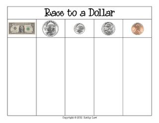 Do you play Race to a Dollar? I do, but with a different board. This post includes boards for Race to a Dime, Race to a Quarter, Race to a Dollar and Race to Twenty Dollars! Great resources for differentiation.