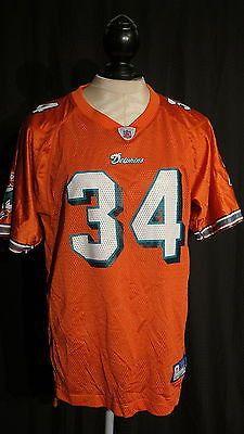 NFL ATHENTIC RICKY WILLIAMS MEN'S NFL DOLPHINS #34 ORANGE JERSEY XL