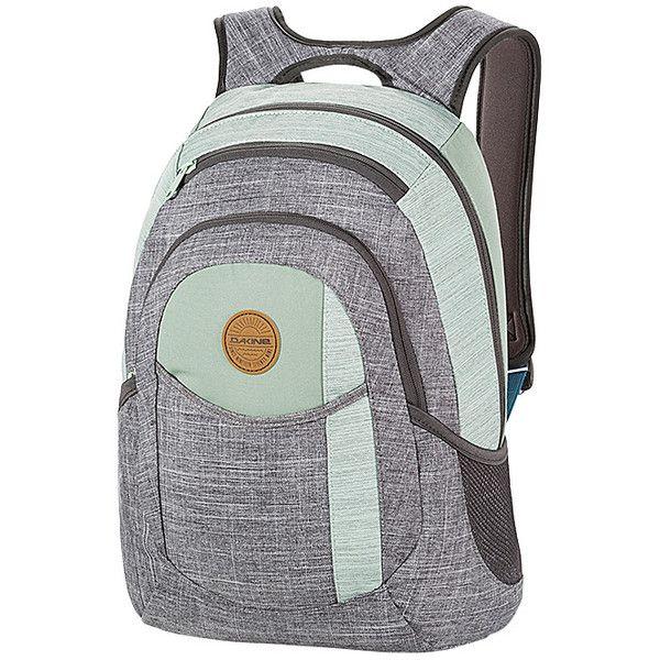 DAKINE Garden Pack Laptop Backpack (€32) ❤ liked on Polyvore featuring bags, backpacks, green, laptop backpacks, laptop rucksack, dakine bag, mesh bag, laptop pocket backpack and dakine rucksack