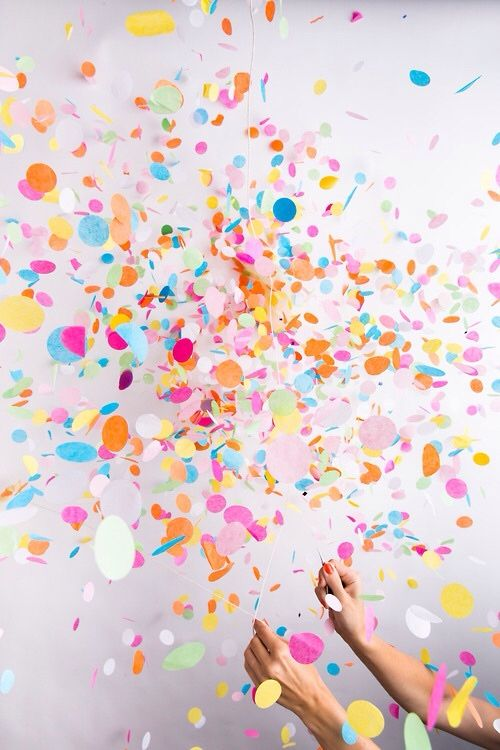 Everyone needs to throw handfuls of confetti at least once in their lives!