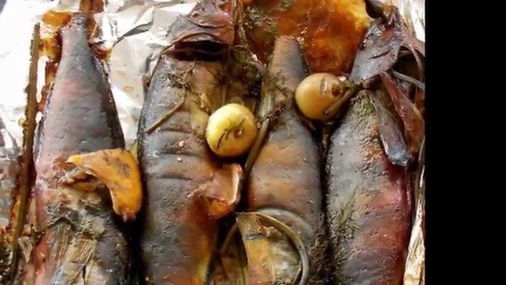 Печь-мангал-коптильня из кирпича. Приготовление в печи коптильне.