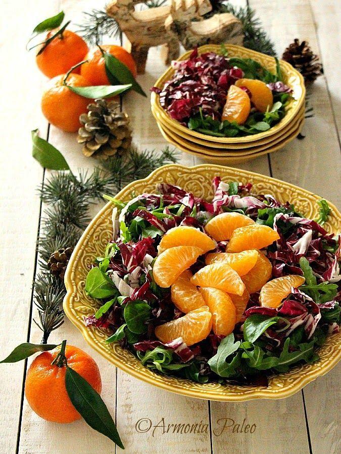 Insalata di Valeriana con Radicchio Rosso e Clementine di Armonia Paleo