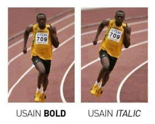 tactical-facepalm:  Usain bold and italic