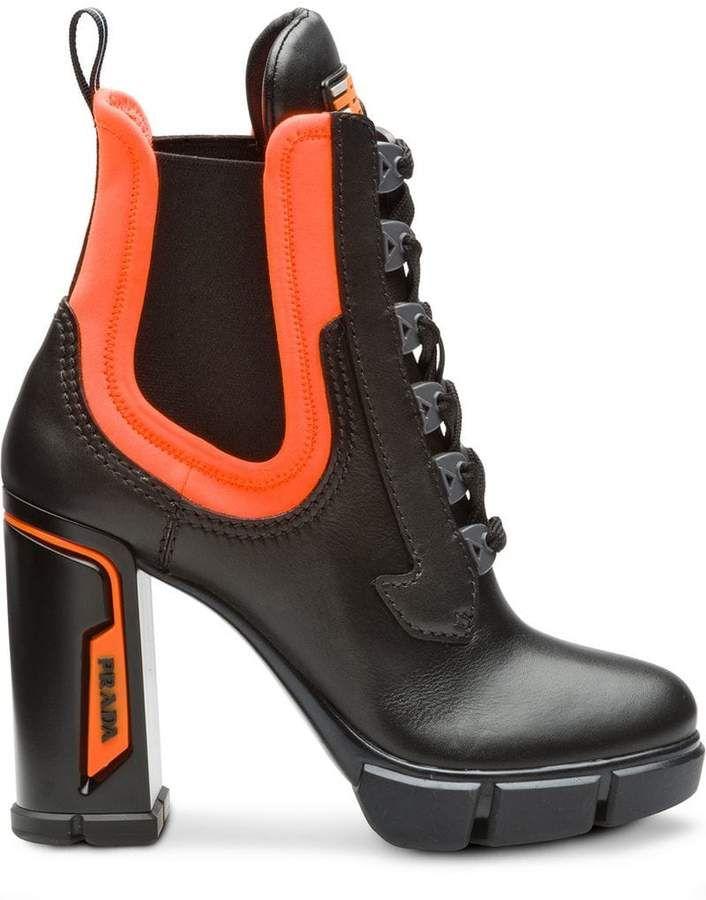 e8615298ee0 Prada chunky lace-up boots