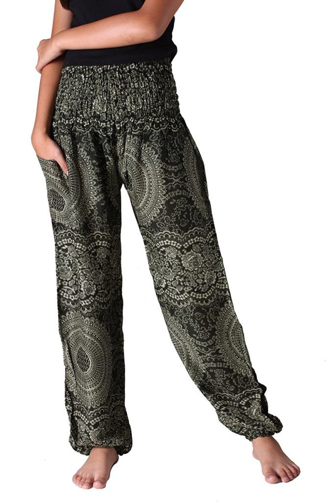 60b3be9fea7cc Bangkokpants Plus Size Harem Pants Boho Clothing Hippie Peacock Size US  14-22