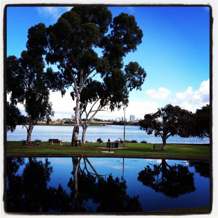 Swan River, Perth (in background) Western Australia
