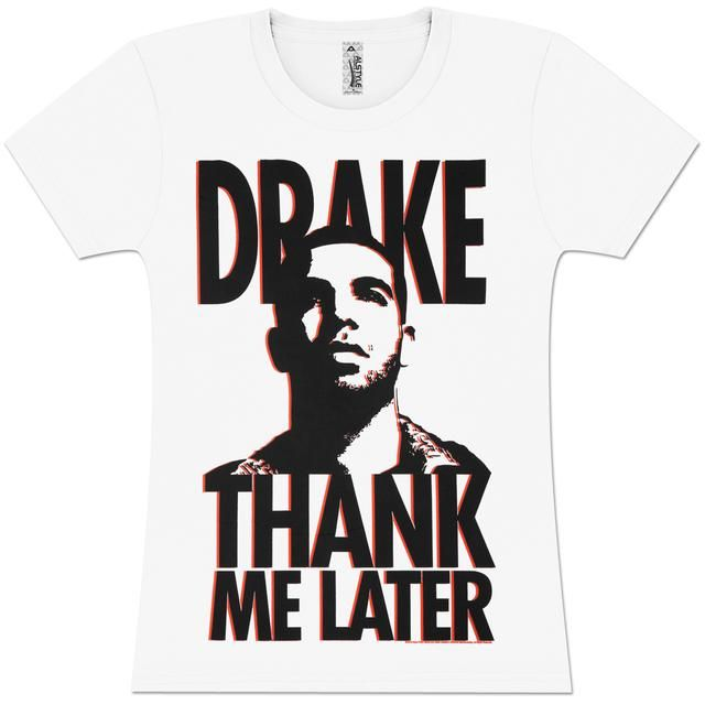 Check out Drake Thank Me Later Girls' Fitted T-Shirt on @Merchbar.