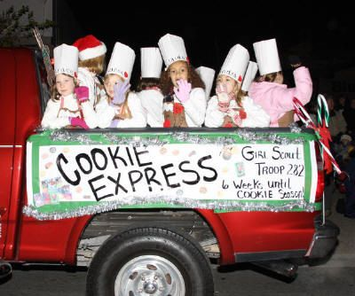 "christmas parade float ideas | Lighting of ""Bruce Sprucetree"" will be at the corner of First ..."