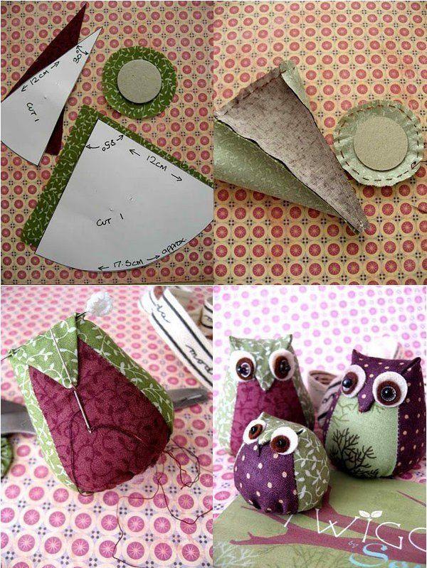 В последнее время многим мастерицам нравится шить игрушки в виде сов. Понять их желание можно, ведь сделать игрушку довольно просто, при этом выглядеть она будет очень даже хорошо.