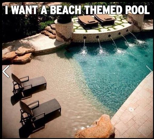 Such a cool idea!: Swim Pools, Beachpool, Beaches Theme, Dreams House, Beaches Pools, Theme Pools, Backyard, Dreams Pools, Dreamhous