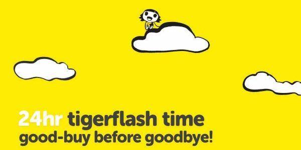 Tigerair Singapore Thursday Tiger Flash Time Good-Buy Before Goodbye Promotion 13-14 Jul 2017