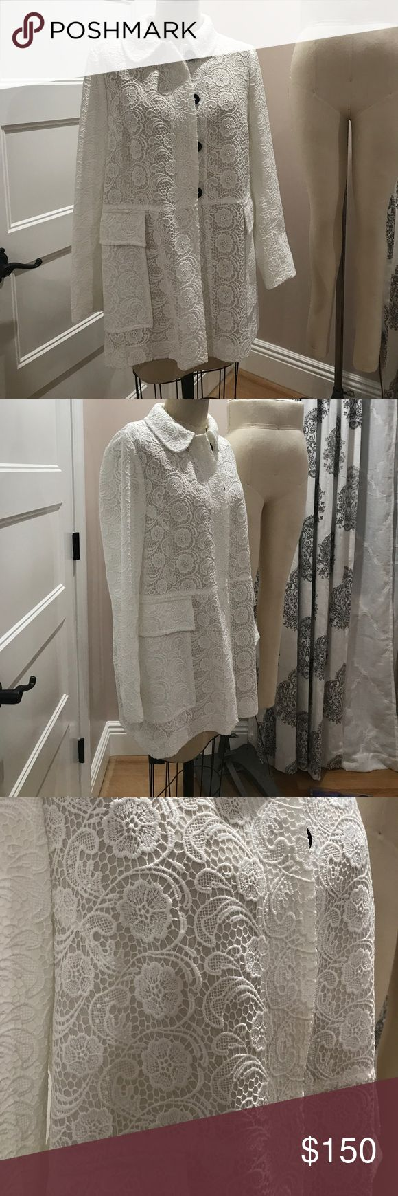 Never Worn ZARA Floral Lace White Jacket Beautiful embellished floral laced embroidered jacket in white. Elegant and classy. Looks likes the great designer pieces. Brand new without Tags! In perfect condition. No stains, pulls or damages. This piece would really help to pull any outfit together, especially those for special occasions. PRICE FIRM. Zara Jackets & Coats