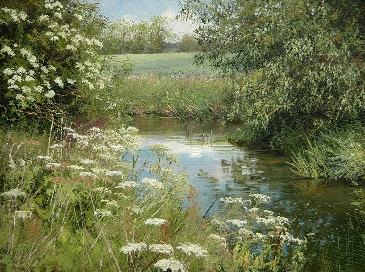 Summer Landscape with Stream