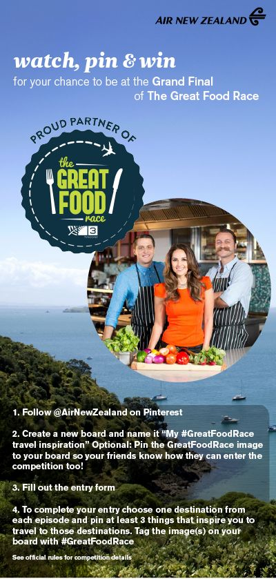 Watch, Pin and Win with the Great Food Race! #GreatFoodRace