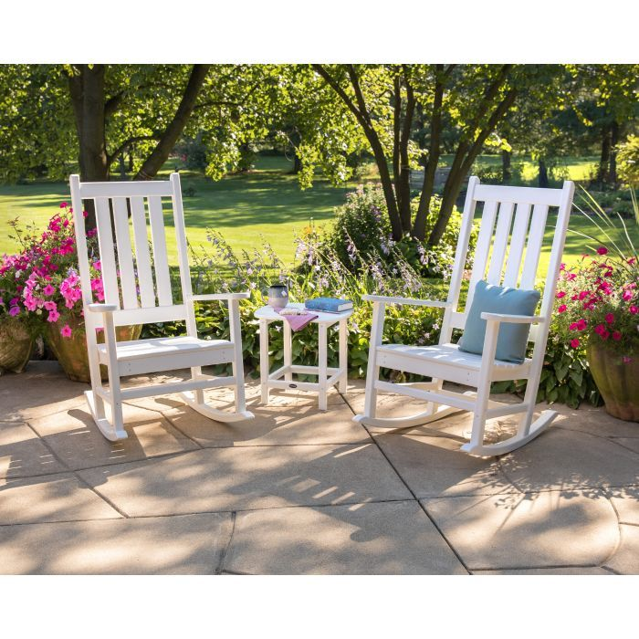 Vineyard 3 Piece Rocking Set Front Porch Shop By Space Outdoor Rocking Chairs Conversation Set Patio Rocking Chair Set