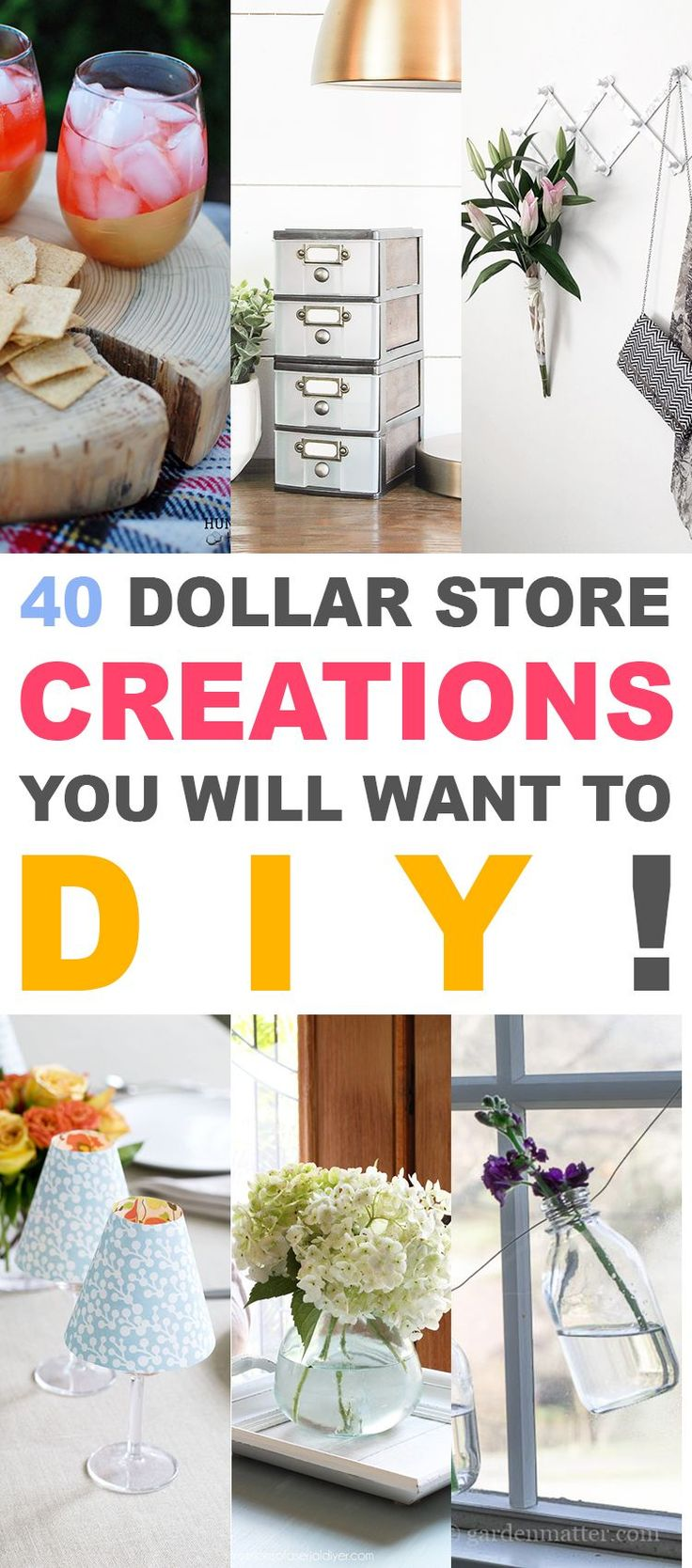 40 Dollar Store Creations You Will Want to DIY!  You are going to love these!- The Cottage Market