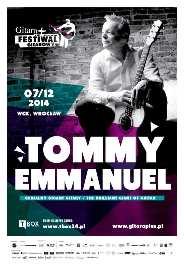 Tommy Emmanuel - Genialny Gigant Gitary Niedziela, 07.12.2014, godz. 18:00 Wrocławskie Centrum Kongresowe, kompleks Hali Stulecia, ul. Wystawowa 1, Wrocław 17. Wrocławski Festiwal Gitarowy GITARA+ http://artimperium.pl/wiadomosci/pokaz/425,tommy-emmanuel-genialny-tytan-gitary-zagra-we-wroclawiu#.VFv51_mG-So