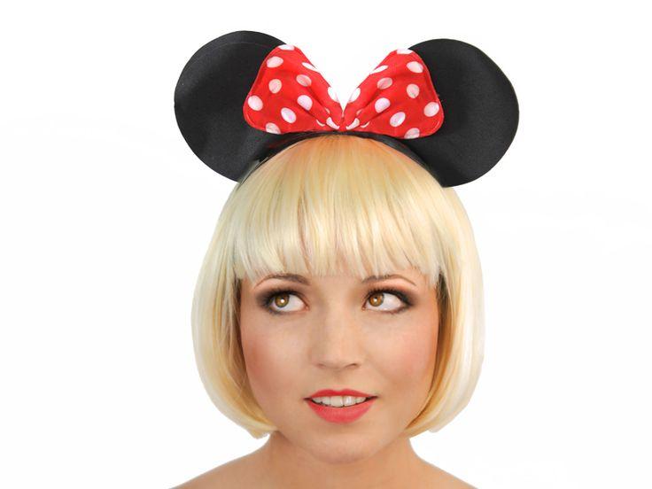 Opaska Myszka Miki z kokardą. Idealna do zdjęć w fotobudce.