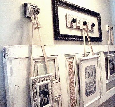 DIY Door Knob Picture Hangers: Wall Decor, Decor Ideas, Door Knobs, Old Doors Knobs, Doors Frames, House, Wall Display, Pictures Hangers, Crafts