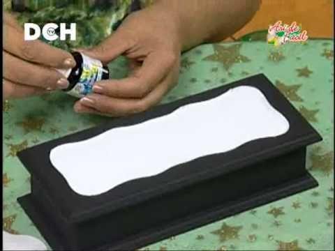Falso Mosaico - YouTube lleva: barniz de mosaico y pintura p/ vitrales (caro!!!)