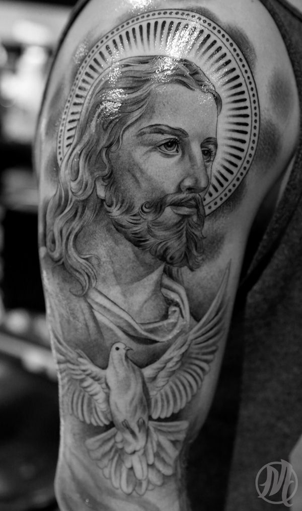 100 best images about art tattoo on pinterest sacred for Tattoos of black jesus