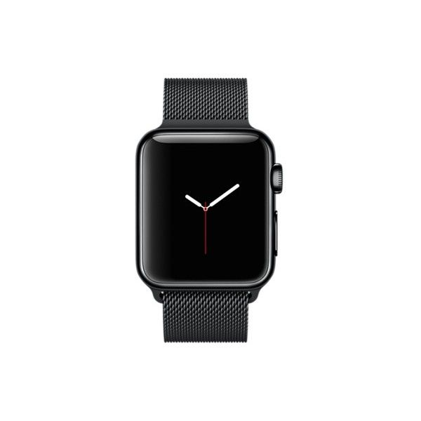 Apple Watch 38mm Space Black Stainless Steel Case with Space Black... (925 CAD) ❤ liked on Polyvore featuring jewelry, watches, stainless steel jewelry, stainless steel jewellery, stainless steel watches and stainless steel wrist watch