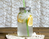 Such an awesome eco friendly idea! It's going on my 'want' list.Diy Ideas, Canning Jars, Summer Drinks, Cute Ideas, Mason Jars Tumblers, Tumblers Lids, Energy Drinks, Mason Jar Tumbler, Jars Lids
