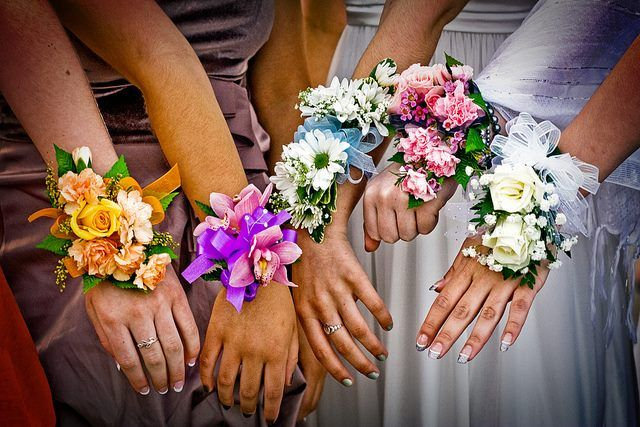 wedding flowers - wrist corsages