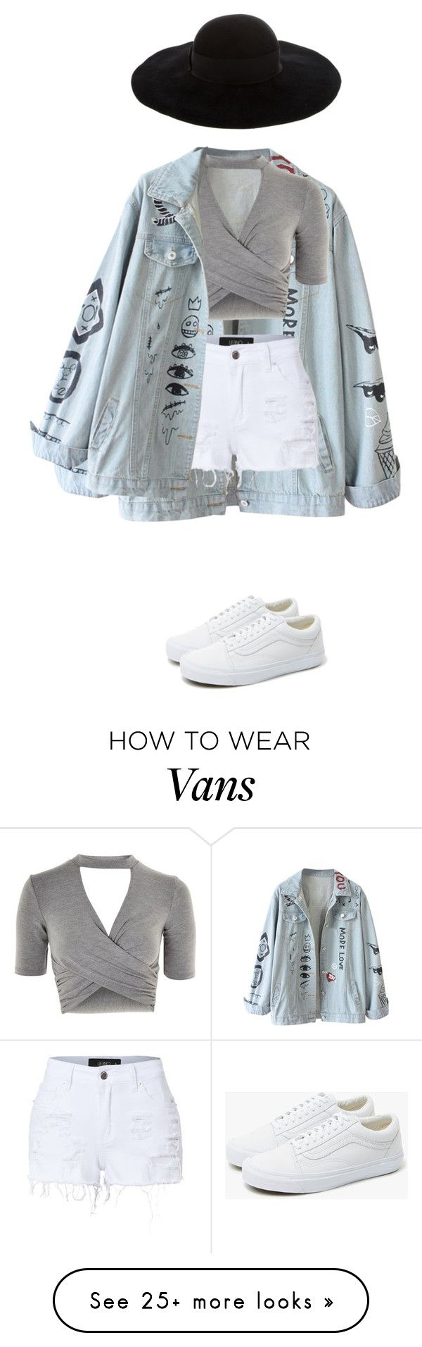 """mannequinxo x rise + shine .. behati"" by xoflawlessmannequinxo on Polyvore featuring Topshop, LE3NO, Vans and Eugenia Kim"