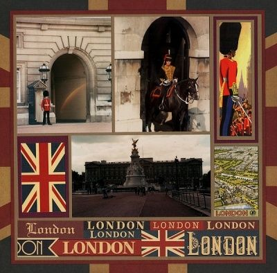 London Scrapbook Page Layout