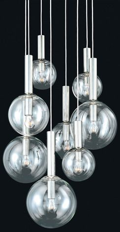 Bubbles 8 Light Pendant by Sonneman