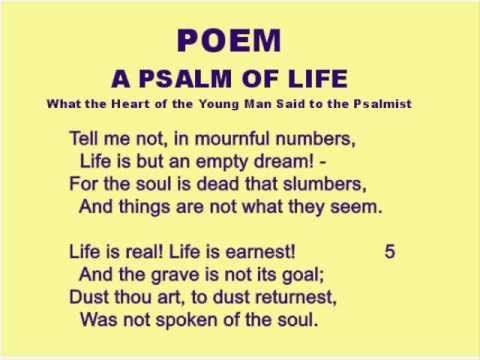 a psalm of life by henry wadsworth longfellow meaning