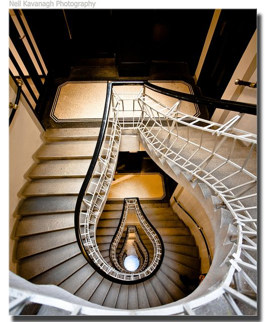 Staircase at The House of Black Madonna, Prague. By Josef Gočár.
