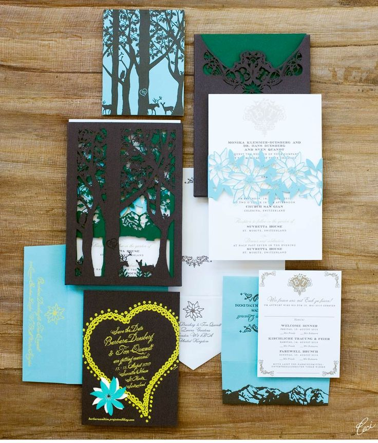 Luxury Wedding Invitations by Ceci New York - Our Muse - Elegant German Wedding - Be inspired by Barbara & Timothys elegant German-inspired wedding in Switzerland - wedding, invitations, foil stamping, laser-cut printing, letterpress printing