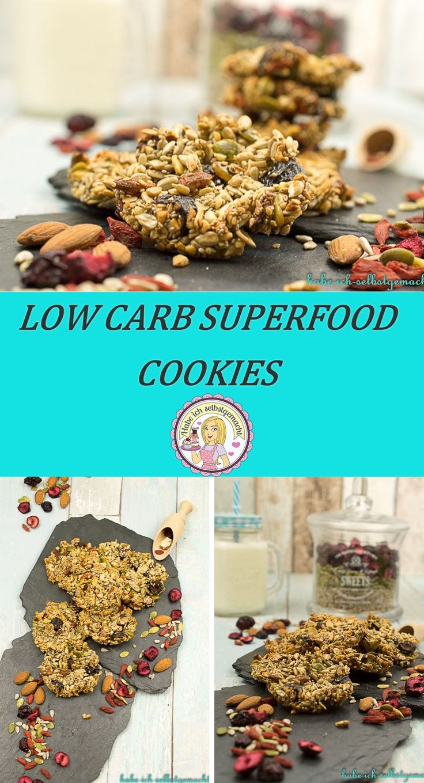 Low Carb Superfood Cookies backen, Rezept, Kekse