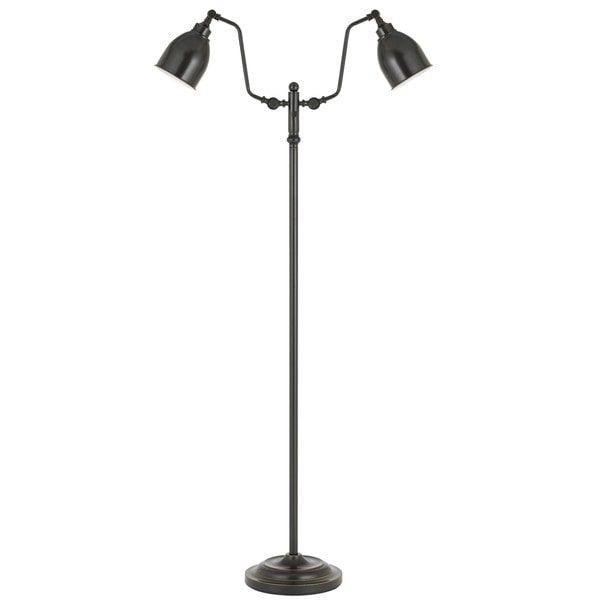 Bronze Metal 60-watt Dual-light Pharmacy Floor Lamp