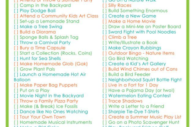 Printable Summer Bucket List Good Ideas Pinterest