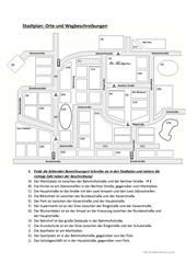 Wegbeschreibung Arbeitsblatt - Kostenlose DAF Arbeitsblätter