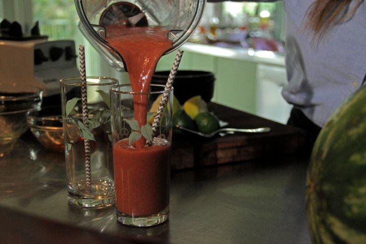 Recipe - Watermelon Basil Slushies
