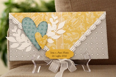 envelop card use the color theme and idea for scrapbook embellishments