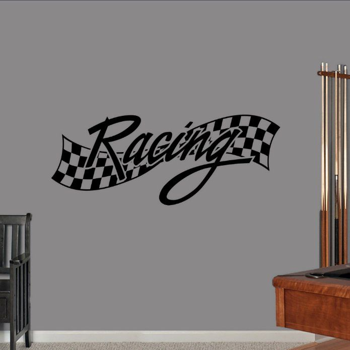 2850di Tire Track Vinyl Wall Decal Garage Decor Home Room Interior Stickers Mural