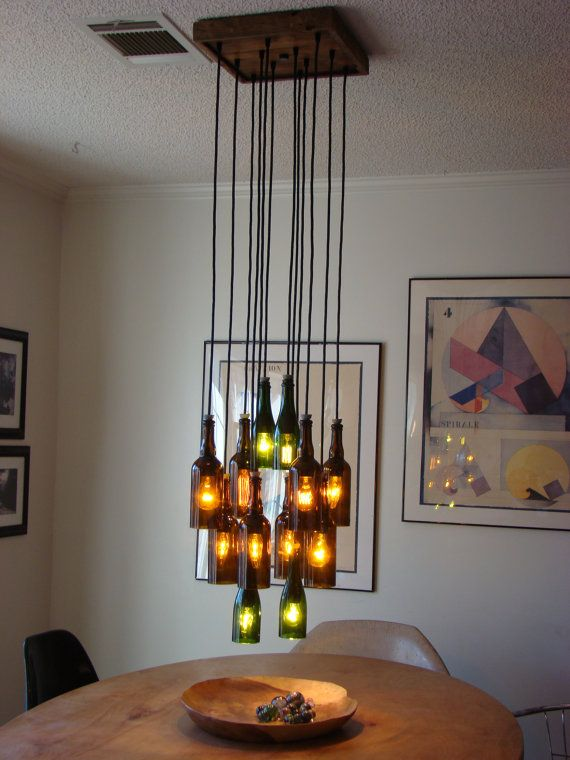 Ten Light Ceiling Mount Upgrade by glow828 on Etsy.......basement idea