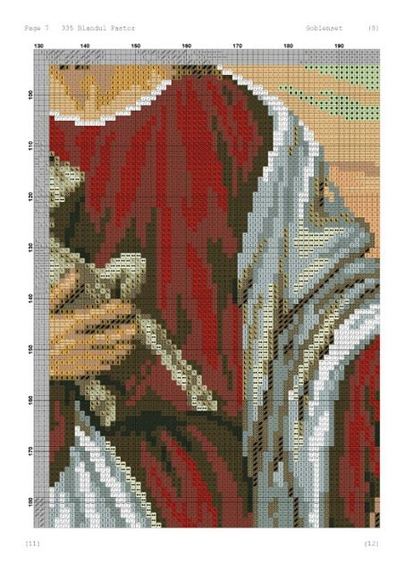 ♥ My Dot Graphics ♥ lui: Isus Good Shepherd în Cross Stitch Chart
