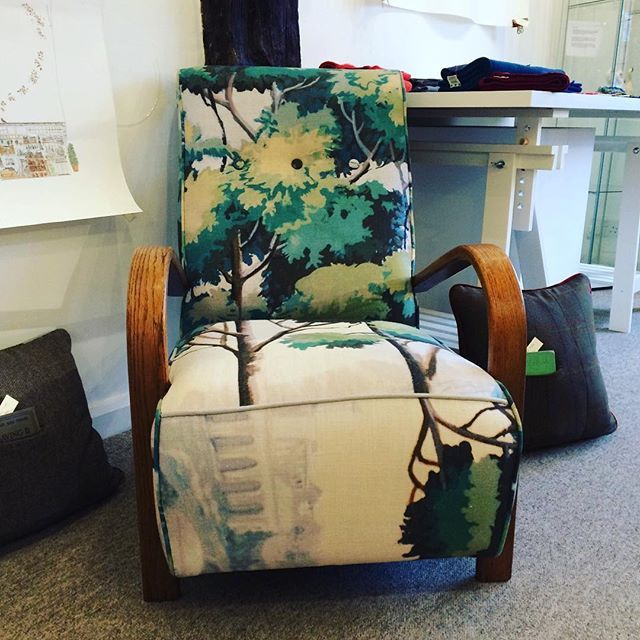 Absolutely stunning. One-off 40's #Italian back-drop material #chair #KatieTyler See it in the Winter Showcase until it goes to a new home. 1 November 2016 to 31 January 2017